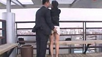 korean couple under bridge