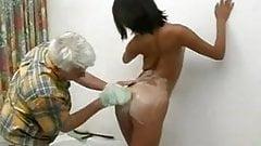 Old Man washing his korean student…F70