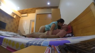 Real screaming Korean cheating house wife gets fucked hard and eats my cum
